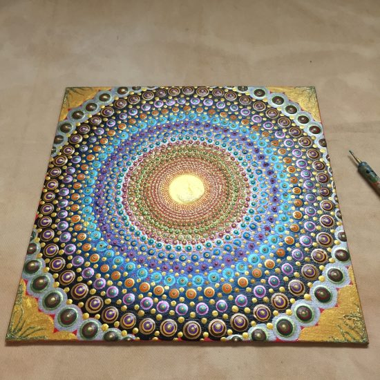 mandala dotpainting art