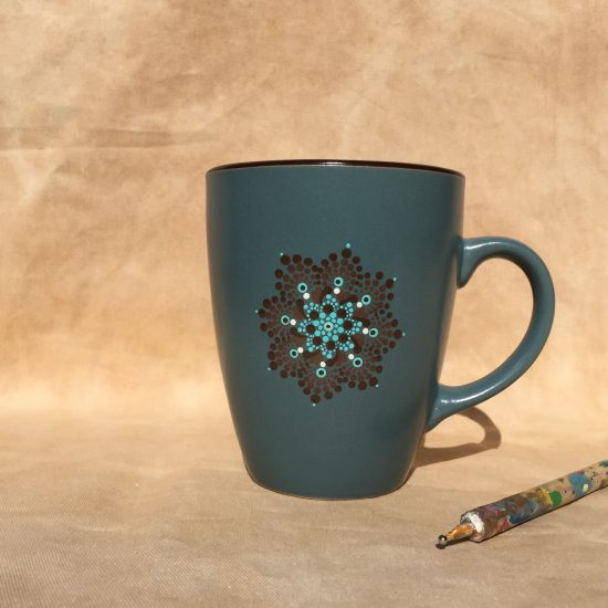 dotpainting mug tasse deep sea high